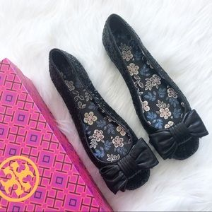 Tory Burch | Abby Ballet Sequin Bow Leather Flats